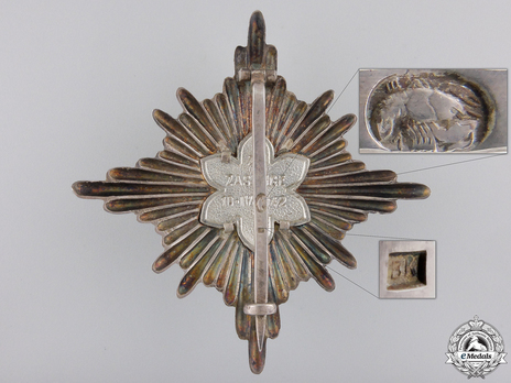 I Grand Officer Class Breast Star (for ladies) Reverse
