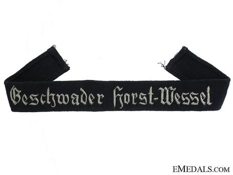 Luftwaffe Geschwader Horst Wessel Cuff Title (Officer version) Obverse