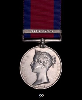 """Military General Service Medal (with """"SALAMANCA"""" clasp)"""