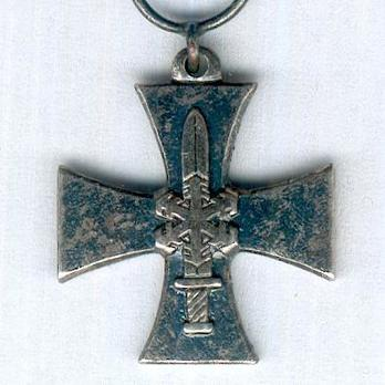 Miniature Continuation War Cross (with silver sword) Obverse