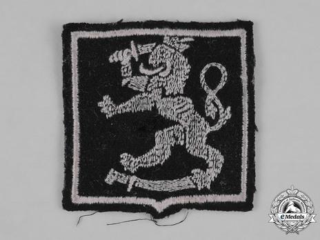 Waffen-SS Finnish Volunteer Arm Shield (1st pattern) Reverse