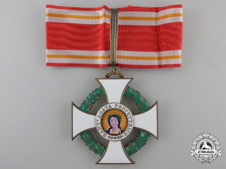 Order of Saint Agatha, Commander Obverse with Ribbon