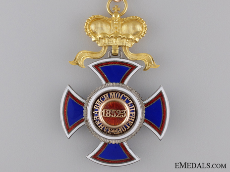 Order of Danilo I (Merit for the Independence), Type IV, III Class, Commander Reverse