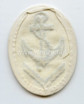 Kriegsmarine Obermaat Boatswain Insignia (embroidered) Reverse