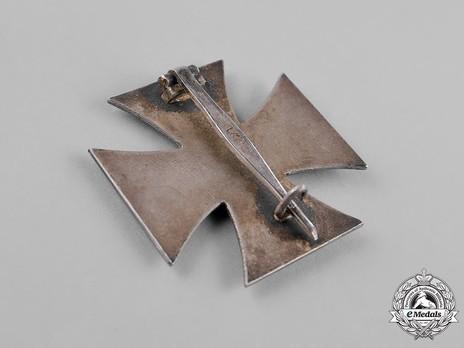 Iron Cross I Class, by P. Meybauer (late pin, marked) Reverse