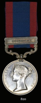 Sutlej Medal (for the Battle of Aliwal, with 1 clasp)