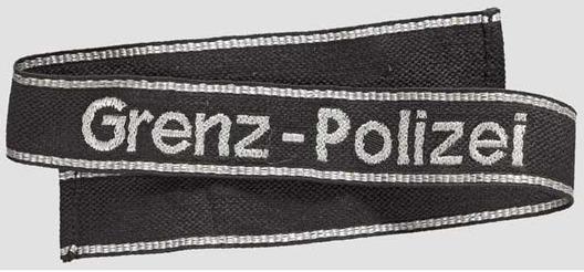 Waffen-SS Grenz-Polizei Cuff Title Obverse