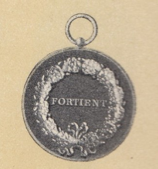 Medal of Merit in Gold , Type III (without crown) Reverse