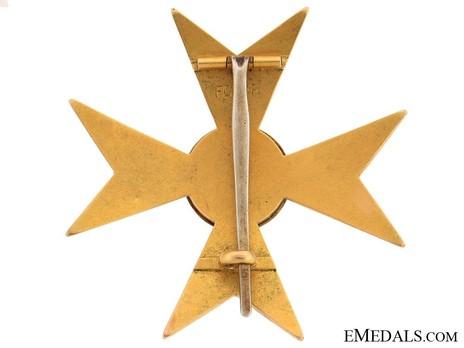 Honour Cross (1892-1918) (Gold) Reverse