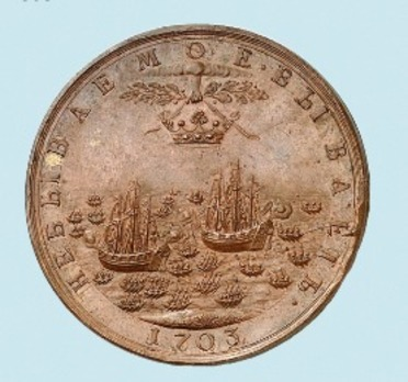The Capture of Two Swedish Warships, Bronze Medal Reverse
