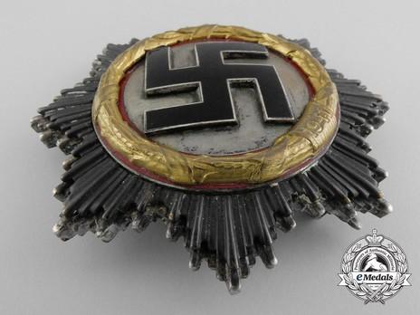 """German Cross, in Gold, by Deschler (4 rivets, """"1"""", cupal) Obverse"""
