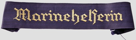 Kriegsmarine Marinehelferin Cuff Title Obverse