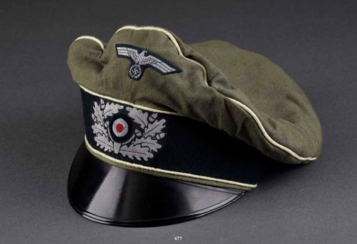 German Army Infantry Officer's Old Style Visor Cap Profile