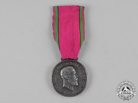 Saxe-Ernestine House Order Medals of Merit, in Silver Obverse