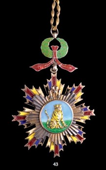 Order of the Striped Tiger, IV Class Officer Badge
