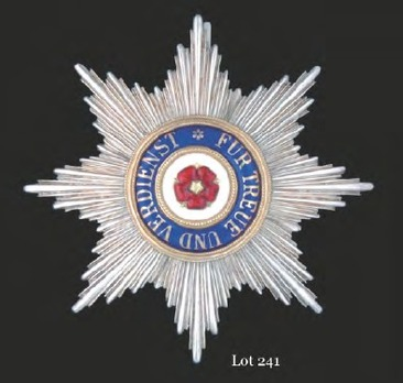House Order of the Honour Cross, Type II, Grand Cross Breast Star