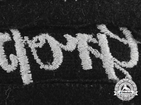 German Army Großdeutschland Cuff Title (Latin version) Reverse Detail