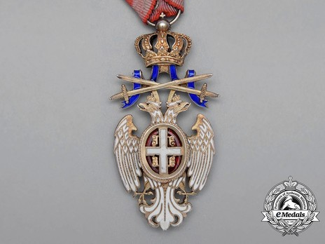 Order of the White Eagle, Type III, Military Division, IV Class Obverse