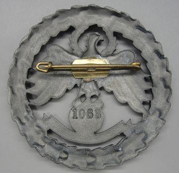 Tyrolean Marksmanship Gau Master Shooting Badge, Type III Reverse