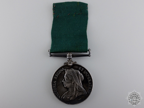 Colonial Auxiliary Forces Long Service Medal Obverse