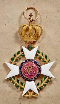 Order of Military Merit of Charles Frederick, Grand Cross (in gold)