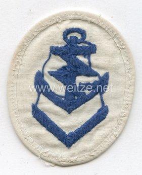 Kriegsmarine Obermaat Radio Operator Insignia (embroidered) Reverse