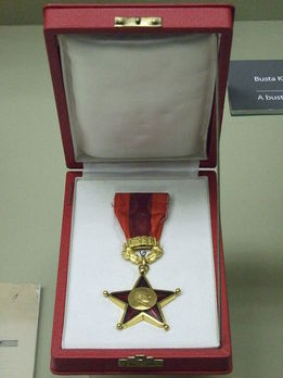 Order of Klement Gottwald-For Building the Socialist Homeland, Type II, Gold Star (1960-1989)