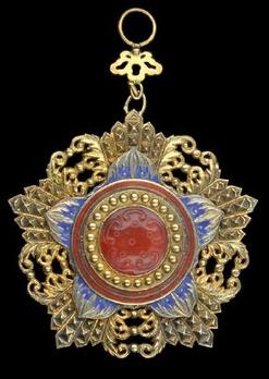 Order of the Brilliant Jade, II Class Sash Badge