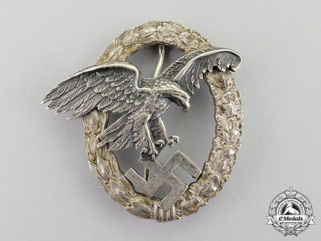 Observer Badge, by C. E. Juncker (in tombac) Obverse