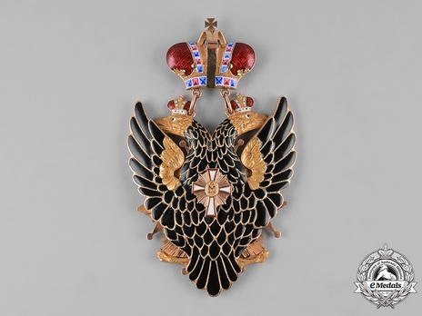 Order of the White Eagle, Type I, Civil Division, Badge (in Gold) Reverse