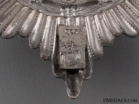 Star of the Schutztruppe Bug (screwback) Reverse Detail