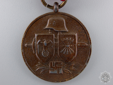 """Commemorative Medal of the Spanish """"Blue Division"""" (in bronzed zinc) Obverse"""