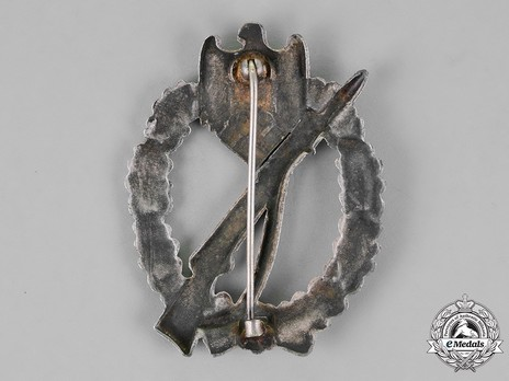 Infantry Assault Badge, by J. Feix (in silver) Reverse