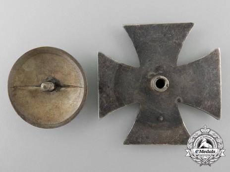 Iron Cross I Class, by E. F. Wiedmann (screwback) Reverse