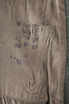 German Army Greatcoat (Regular version) Maker Mark