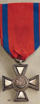 Cross for 25 Years of Military Service, in Silver Cross