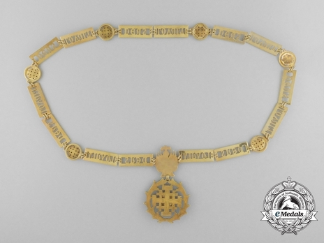 Equestrian Order of Merit of the Holy Sepulcher of Jerusalem (Type II) Collar Reverse