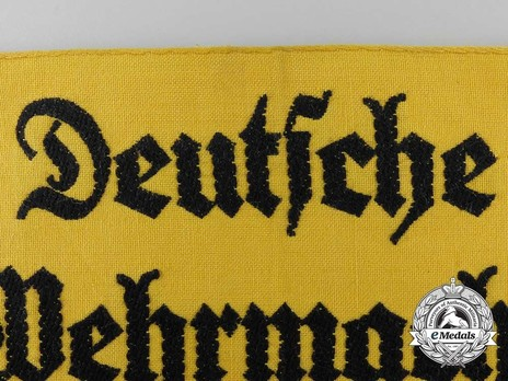 German Army Civilian Member of the Armed Forces Armband Obverse Detail 1