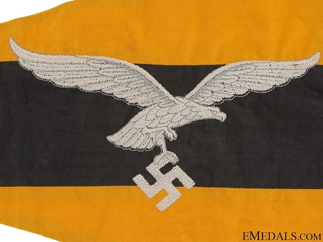 Luftwaffe Lower Command Vehicle Pennant (1935-1942 version) Reverse
