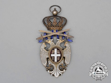 Order of the White Eagle, Type III, Military Division, I Class Obverse