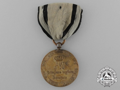 Medal for Combatants (with squared arms 1813 1814) Obverse