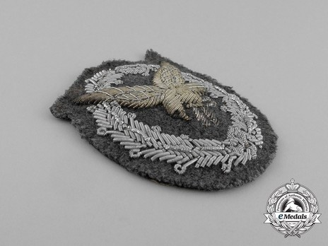 Radio Operator & Air Gunner Badge, in Cloth (in bullion) Obverse