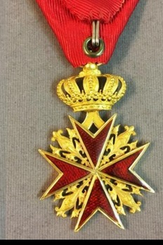 Military Order of Saint Stephen, Type II, Knight (with crown) Reverse