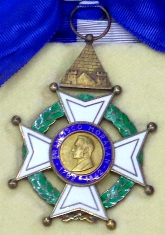Order of francisco morazan grand cross badge %28honduras 1960 1980%29   tallinn museum of orders