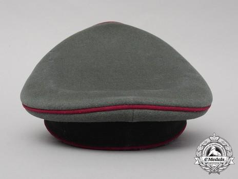 German Army Smoke & Chemical Officer's Visor Cap Back