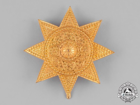 Order of the Star of Ethiopia, Grand Officer Breast Star (in Bronze gilt) Obverse