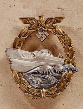 E-Boat War Badge with Diamonds, Type II Obverse