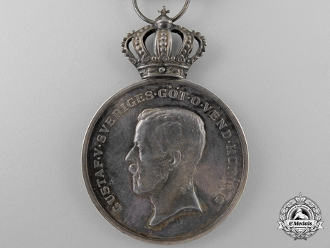 2nd Size Silver Medal (for Loyal Long Service Model I) Obverse
