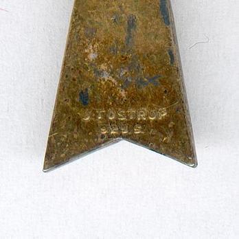 """King Haakon VII Freedom Cross (stamped """"J. TROSTRUP OSLO"""") Reverse"""