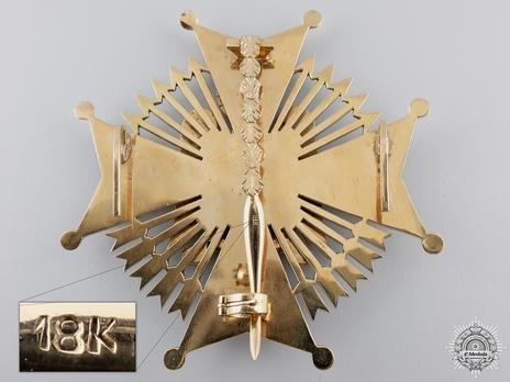 Grand Cross Breast Star (with brilliants) Reverse